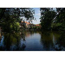A Glimpse Through the Trees - Bruges, Belgium Photographic Print