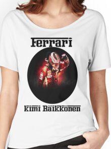 Ferrari: Kimi Räikkönen Women's Relaxed Fit T-Shirt