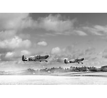 Winter ops: Spitfires, black and white version Photographic Print