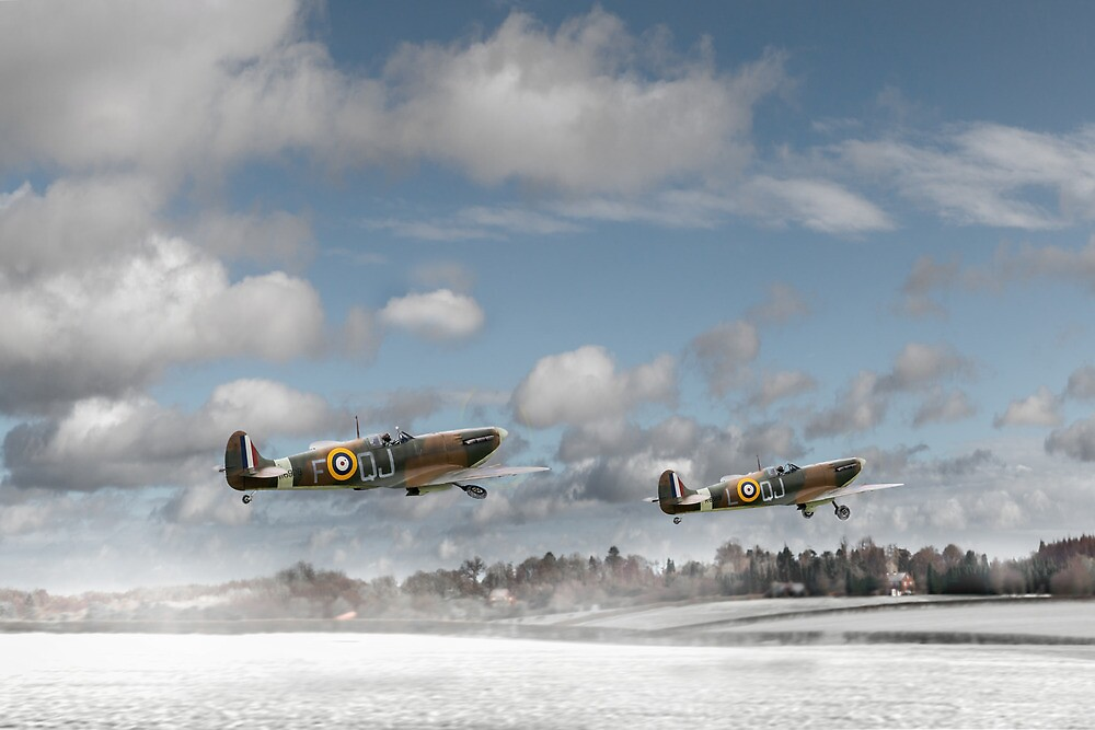 Winter ops: Spitfires by Gary Eason