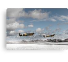 Winter ops: Spitfires Canvas Print