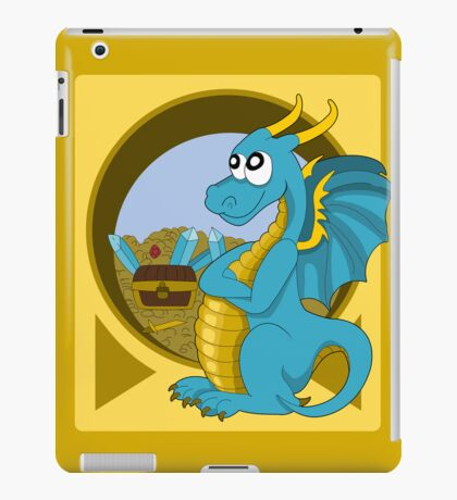 Cartoon blue dragon  iPad Case/Skin