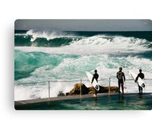 Getting wet Canvas Print