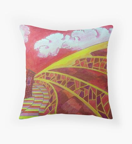 393 - FANTASY COTTAGE - DAVE EDWARDS - COLOURED PENCILS - 2013 Throw Pillow
