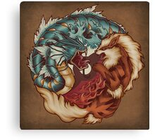 The Tiger and the Dragon - Print Canvas Print
