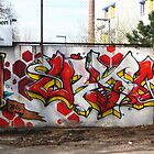 Graffiti in Lichtenberg, Germany by BurrowsImages