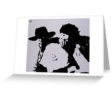 Bruce Springsteen and Clarence Clemmons 2 Greeting Card