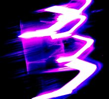 Purple Neon Abstract Digital Art by Vincent J. Newman