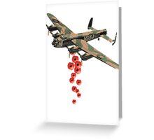 Lancaster Poppy Drop Greeting Card