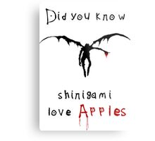 Shinigami love apples Metal Print