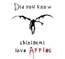 Shinigami love apples Photographic Print