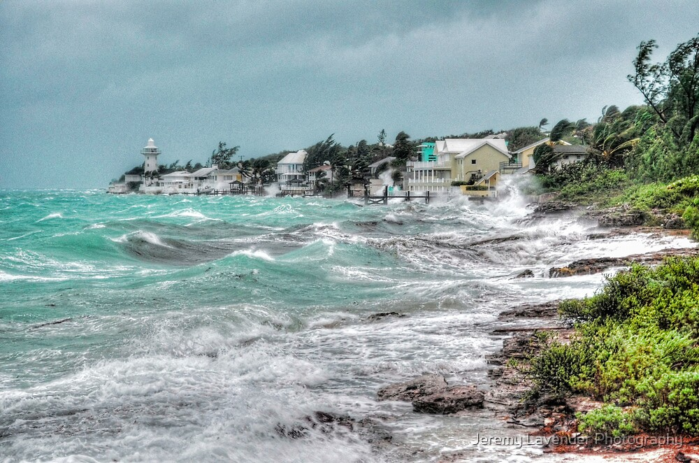 Hurricane Sandy playing around on Eastern Road in Nassau, The Bahamas by Jeremy Lavender Photography