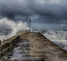 storm at porthleven by kathleenjean