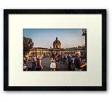 Live model photoshoot in Paris Framed Print