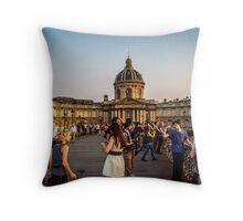Live model photoshoot in Paris Throw Pillow