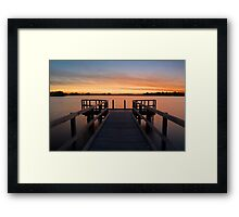 Shelley Jetty Perth Western Australia. Framed Print