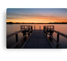 Shelley Jetty Perth Western Australia. Canvas Print