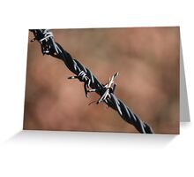 Simplistic Metal Design of Traditional Prairie Fencing Greeting Card