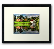 Virginia Waters - Boathouse Framed Print