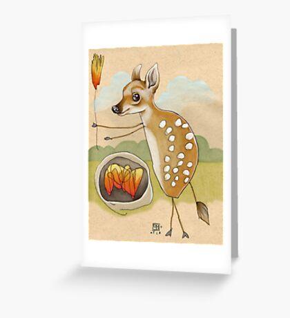 Camping Deer Greeting Card