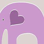 Lavender Elephant by Elephant Love