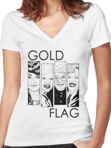 GOLD FLAG Women's Fitted V-Neck T-Shirt