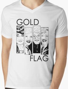 GOLD FLAG Mens V-Neck T-Shirt