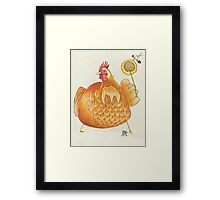 Sunflower Hen Framed Print