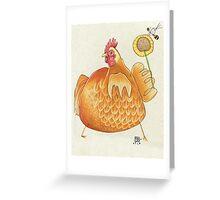 Sunflower Hen Greeting Card