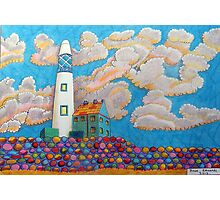 394 - FANTASY LIGHTHOUSE - DAVE EDWARDS - COLOURED PENCILS - 2013 Photographic Print