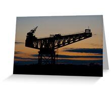 Crane Sunset Greeting Card