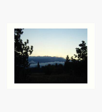 Dawn by Silhouette Art Print