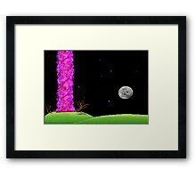 Night of the meteor 2 Framed Print