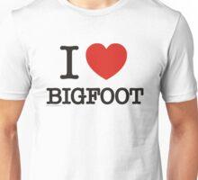 I Love Bigfoot  Unisex T-Shirt