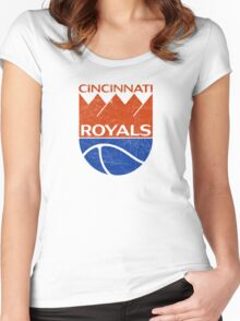 Cincinnati Royals - Distressed Women's Fitted Scoop T-Shirt