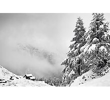 Chalet with a view Photographic Print