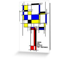 De Stijl - Trees! How Gastly! Greeting Card