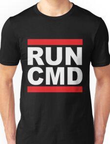 Run Command White Text Unisex T-Shirt