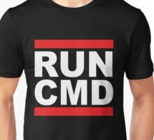 Run Command White Text Unisex T-Shirt