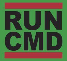 Run Command Black Text Kids Tee