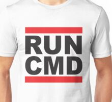 Run Command Black Text Unisex T-Shirt