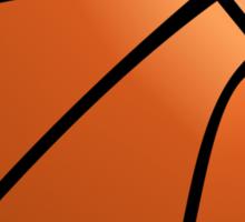 Orange Basketball Sticker