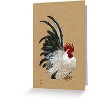 Japanese Bantam Rooster Greeting Card