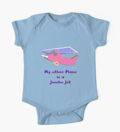 My other Plane is a Jumbo Jet T-shirt One Piece - Short Sleeve
