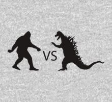 Bigfoot vs Dinosaur  by thebigfootstore