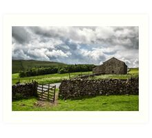 Yorkshire barn and gate Art Print