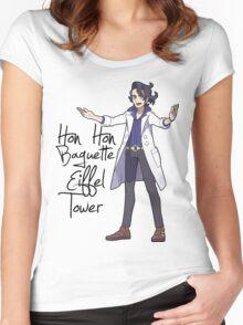 Hon Hon Baguette Eiffel Tower Women's Fitted Scoop T-Shirt