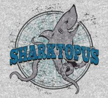 Sharktopus - Shark Octopus Hybrid Sea Monster - Shark Attack - Shark Octopus Horror B Movie Parody T-Shirt