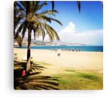 Beach Life in Málaga Canvas Print