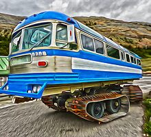 Athabasca Glacier Snow Mobile by Gregory Dyer